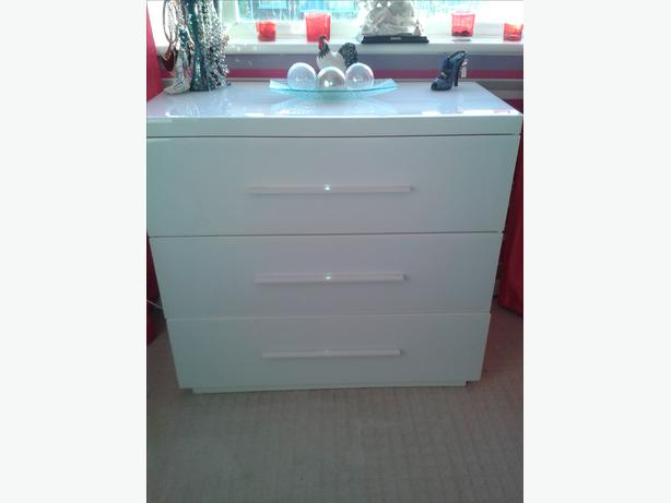 Next White Glass Chest Of Drawers Cannock Other Dudley