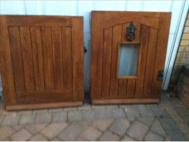 external solid oak glazed wooden stable door excellent condition