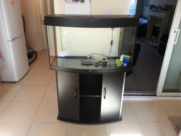 juwel vision 180 bow front fish tank full setup with cabinet wolverhampton sandwell. Black Bedroom Furniture Sets. Home Design Ideas