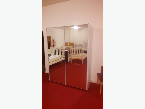 Heart of House Bergen Small Sliding Wardrobe - Mirrored