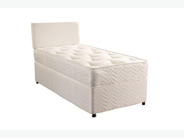 BASE AND MATRESS-ORTHOPAEDIC SINGLE DIVAN BED