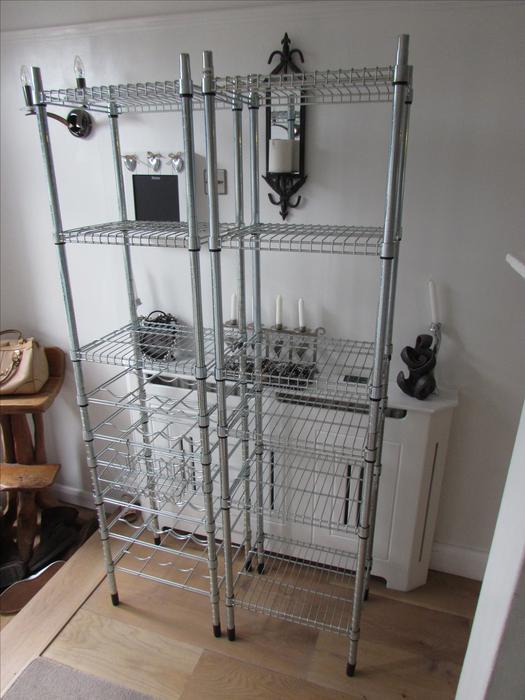 Ikea Omar Galvanised Shelving And Wine Rack Garage Storage