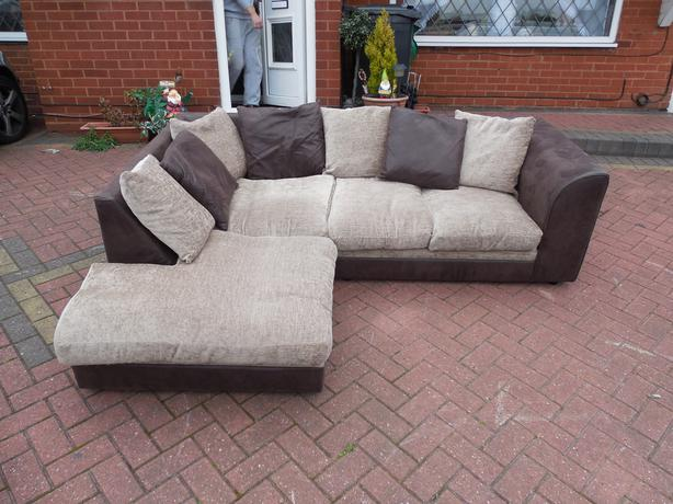 Black suede corner sofa for sale sedgley sandwell for Suede couches for sale