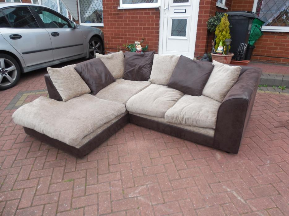 Black suede corner sofa for sale sedgley dudley for Suede couches for sale