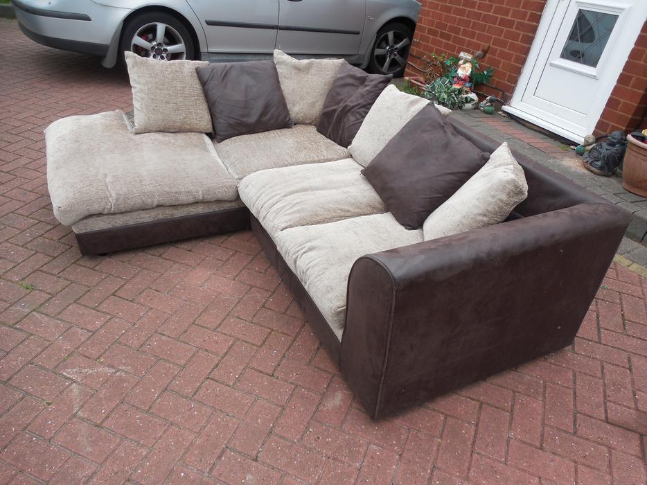 Black Suede Corner Sofa For Sale Sedgley Wolverhampton
