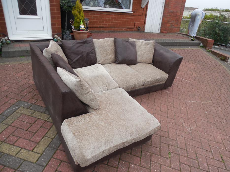 black suede corner sofa for sale sedgley dudley