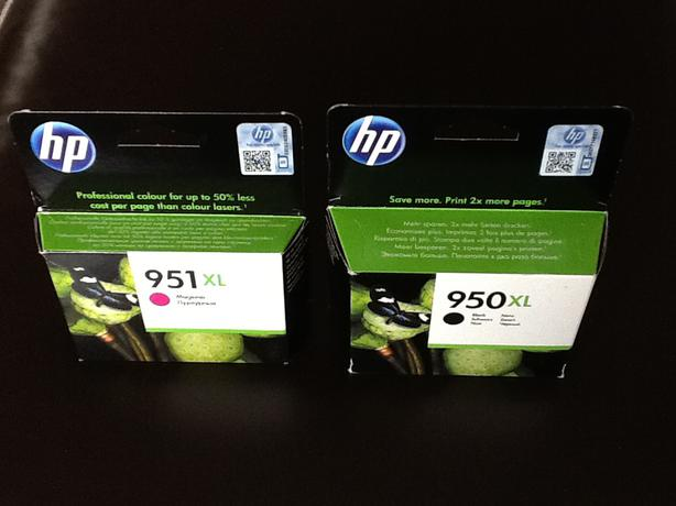 Genuine hp ink  951 &  950 brand new