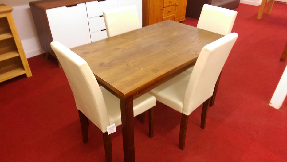Ashdon Walnut Effect 120cm Table and 4 Cream Midback  : 104849015934 from www.usedwolverhampton.co.uk size 934 x 528 jpeg 39kB
