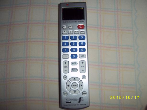Solar Powered Universal TV Remote Control.
