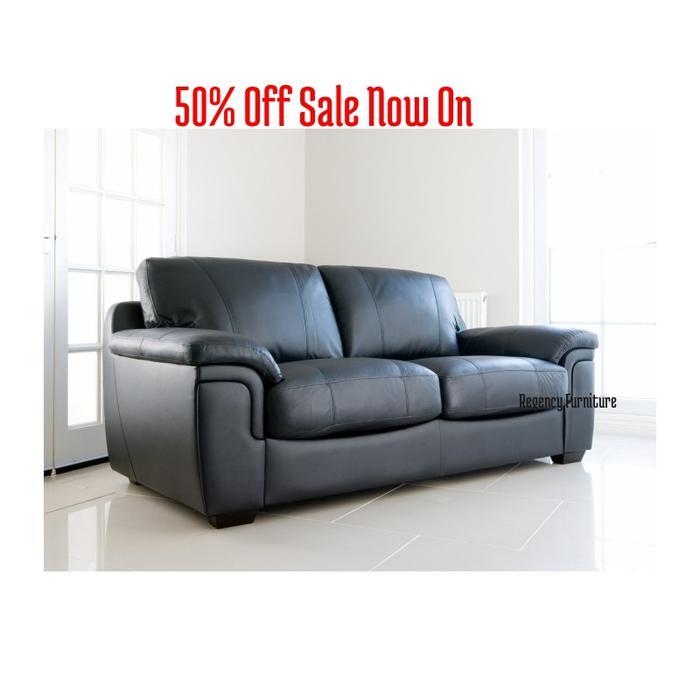 Sofa For Sale In Wolverhampton: The Carmelo Sofa 3 Seater In Faux Leather Black ( Free