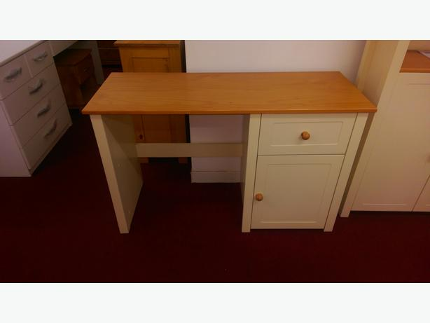haversham solid pine office desk antique pine and cream
