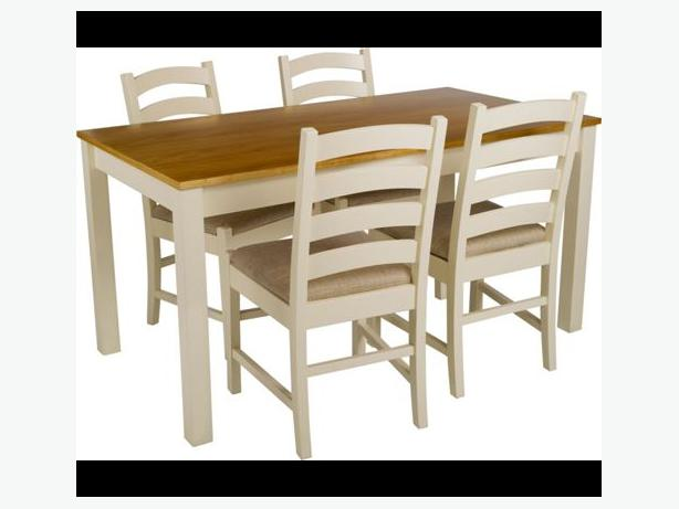 Haversham Pine Dining Table and 4 Upholstered Chairs  : 104867615614 from www.usedwolverhampton.co.uk size 614 x 461 jpeg 26kB