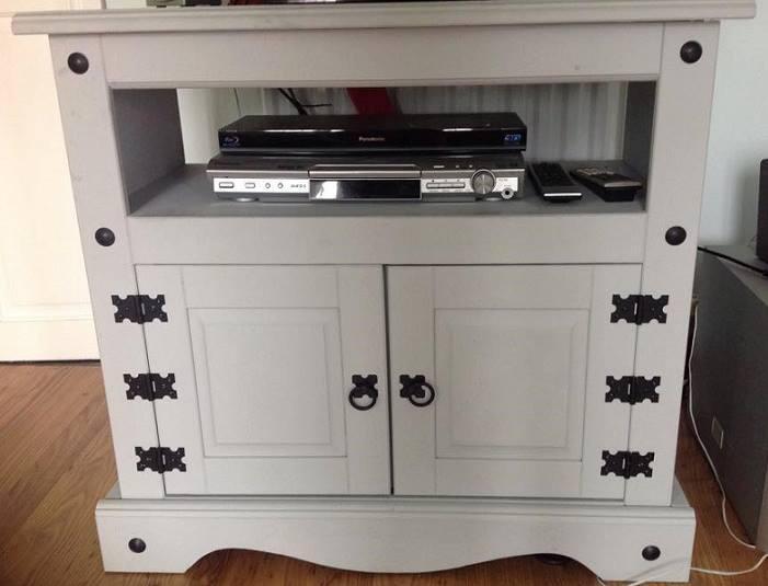 Mexican Pine Tv Cabinet Grey Rowley Regis Dudley