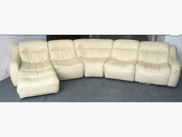 3000 Dfs Zara Cream Leather Corner Sofa We Deliver Uk Smethwick Walsall