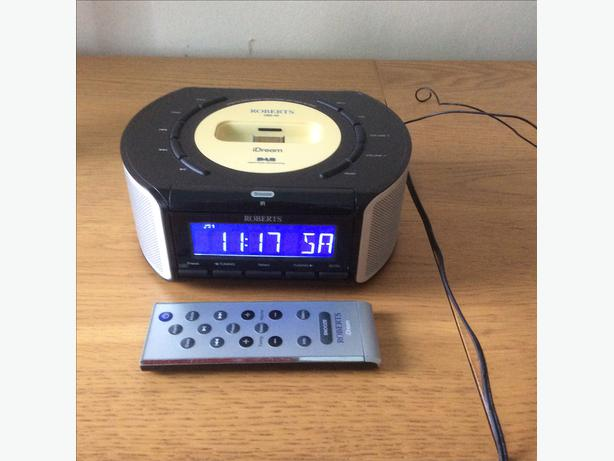roberts dab digital radio alarm clock with ipod dock wolverhampton dudley. Black Bedroom Furniture Sets. Home Design Ideas