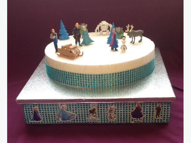 ... Frozen Birthday Cake Stand & Cake if required LOCAL DELIVERY AVAILABLE