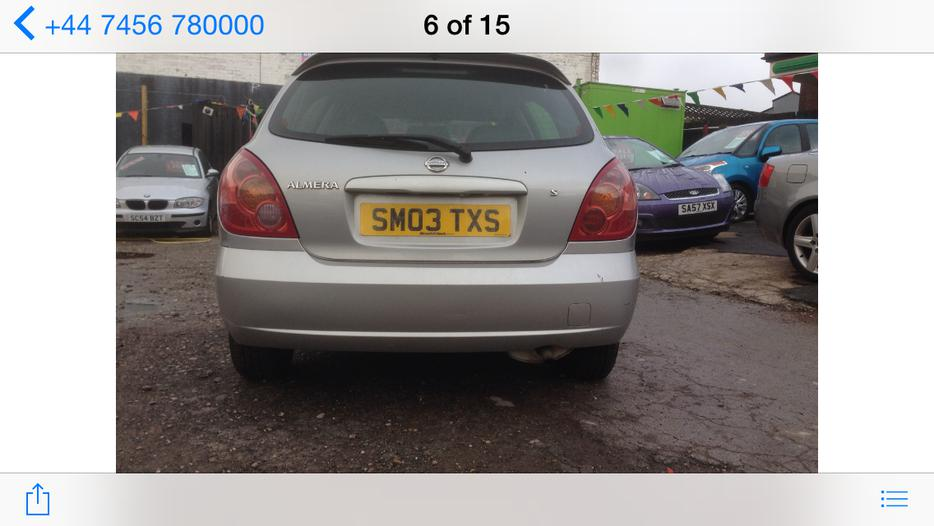 nissan almera 1 5 s  only 87k miles   hpi clear   cd