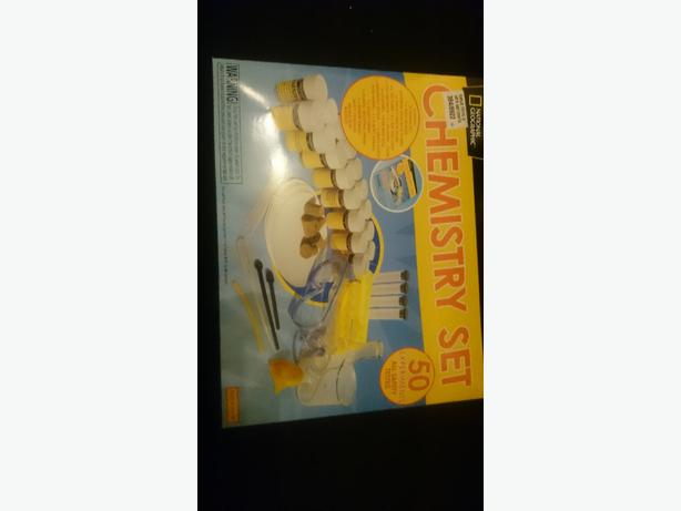 kids chemistry set with instruction book of 50 experiments