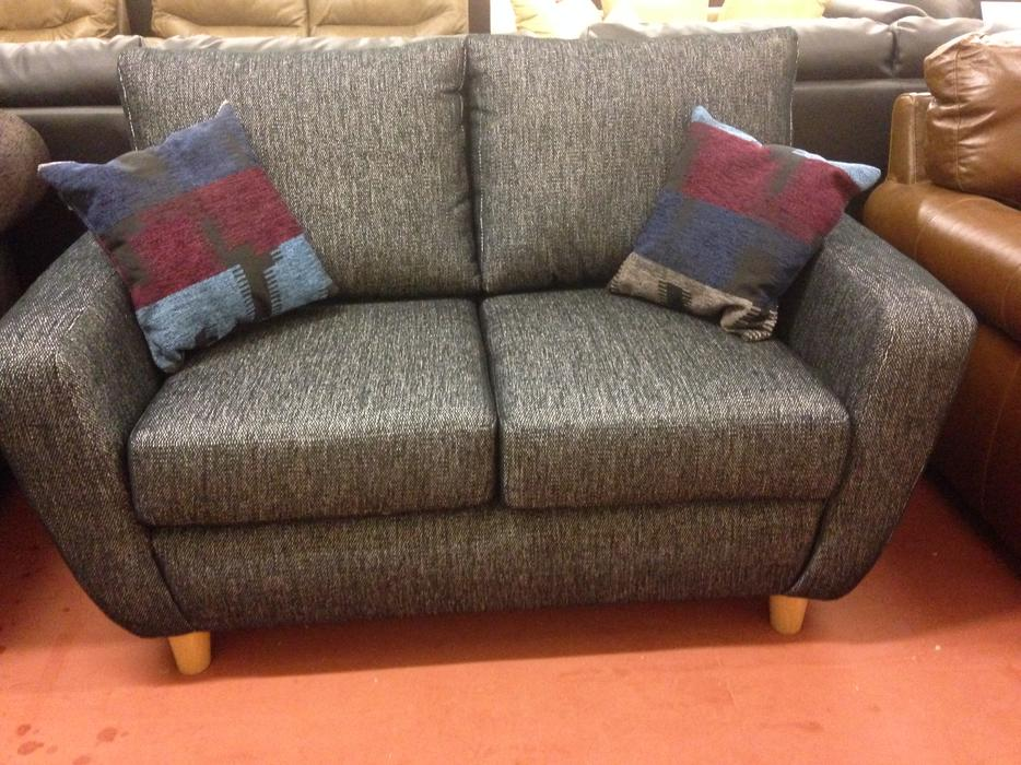 Heart Of House Colby Regular Fabric Sofa Charcoal Bilston