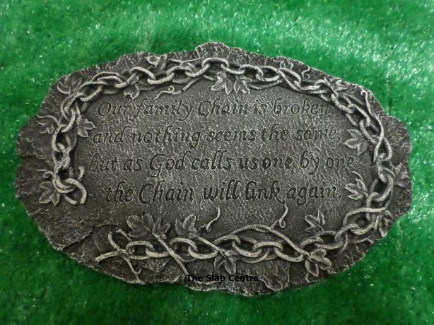 *NEW* Family Memorial Stone - Broken Chain