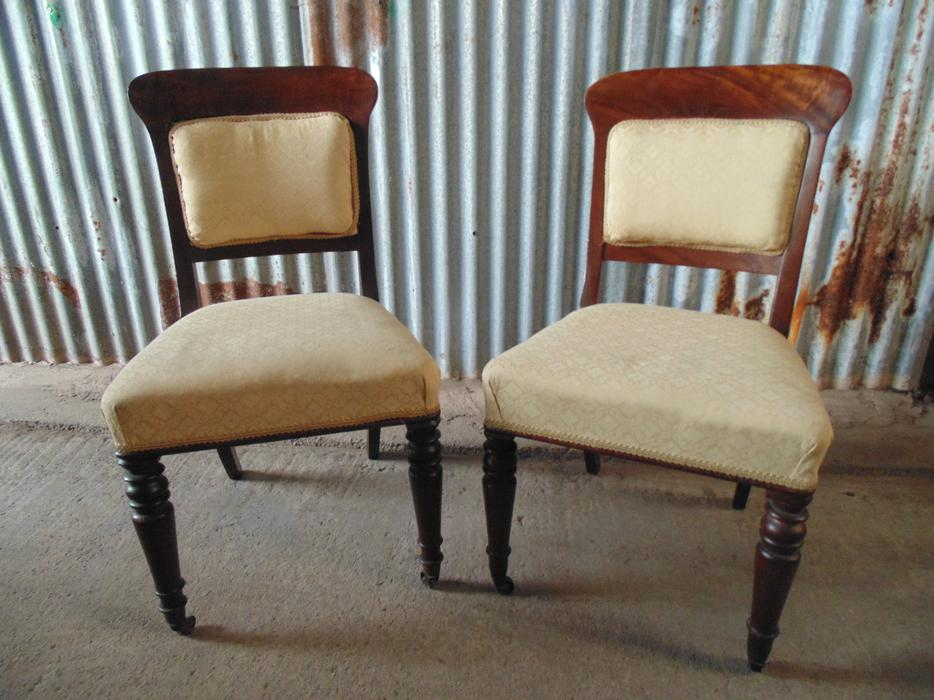Pair of edwardian upholstered chairs stunning outside for Best quality upholstered furniture