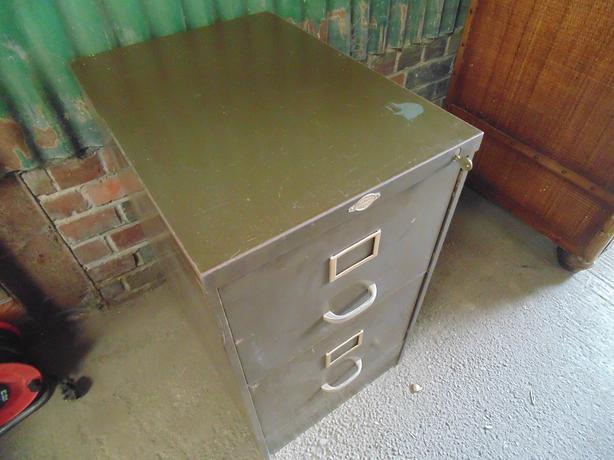 Metal filing cabinet with key can be upcycled into Upcycled metal filing cabinet