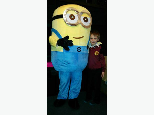 Minion mascot outfit hire