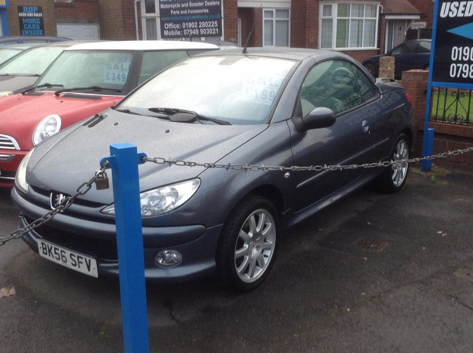 2007 peugeot 206 cc 1 6 allure 1 owner from new full grey leather sedgley wolverhampton. Black Bedroom Furniture Sets. Home Design Ideas