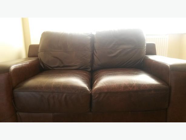 Brown Leather Settee Tipton, Wolverhampton