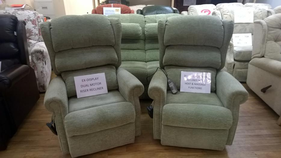 2 X Ex Display Dual Motor Riser Recliner Chairs 1 With