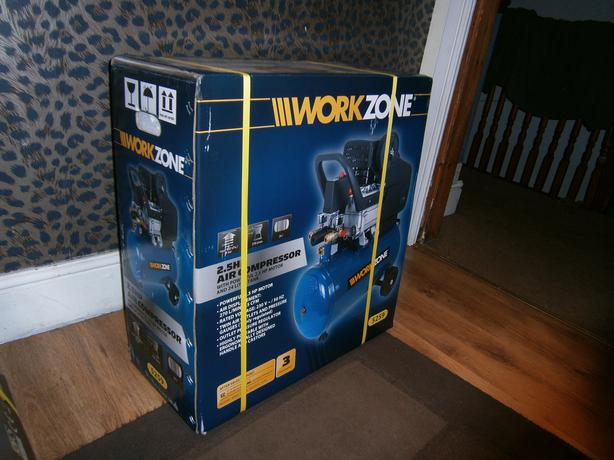 Brand New Work Zone 2 5hp Air Compressor 24l Tank