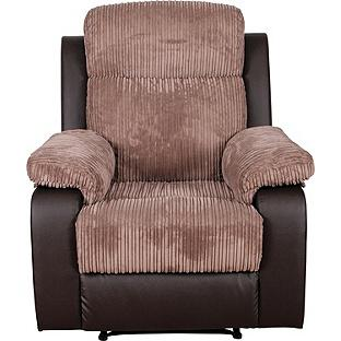 Bradley Fabric Recliner Chair Natural Bilston Dudley