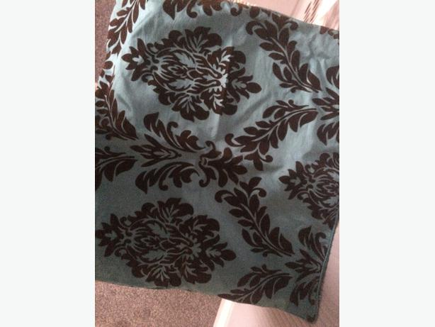 4 large teal cushion covers