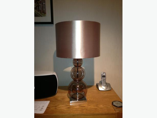Next bubble mink coloured table lamps x 2 wolverhampton sandwell next bubble mink coloured table lamps x 2 aloadofball Image collections