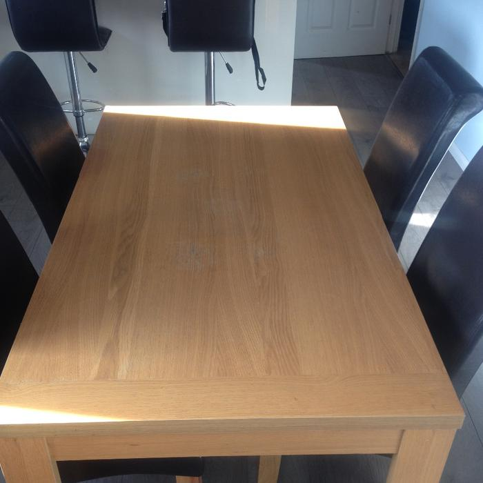 Sofa For Sale In Wolverhampton: Oak Veneer Table And Chairs WOLVERHAMPTON, Wolverhampton