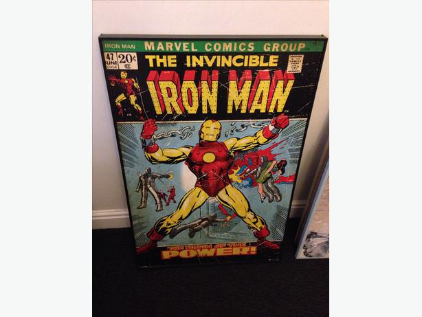Marvel Wood Wall Decor : Marvel comic iron man wooden wall art bilston wolverhampton