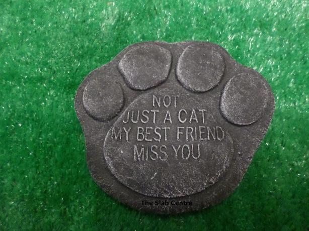 NEW Cat Memorial Plaque Paw Print
