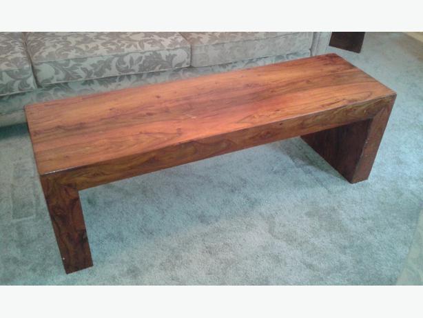 Solid Sheesham Wood Coffee Table Outside Black Country Region Wolverhampton