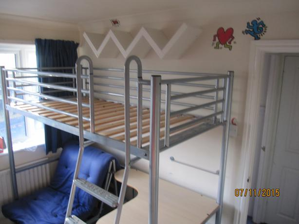Jay be studio 3 bunk bed with futon chair bed and desk for Jay be bunk bed