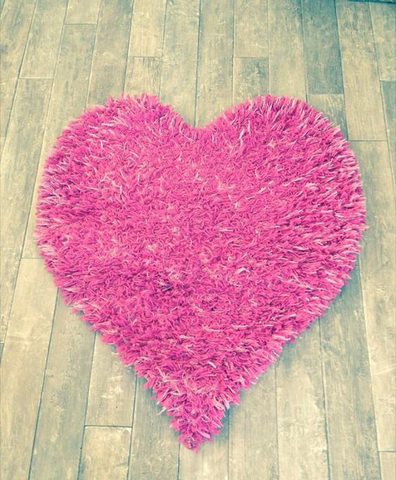 Pink Heart Shaped Rug Kingswinford, Wolverhampton
