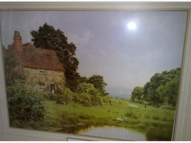 Scammels farm framed print