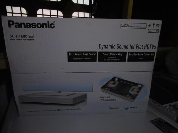  Log In needed £150 · Panasonic SCHTE80 120W 2 1Ch Soundbase with Built in  Sub  Silver Opened to test