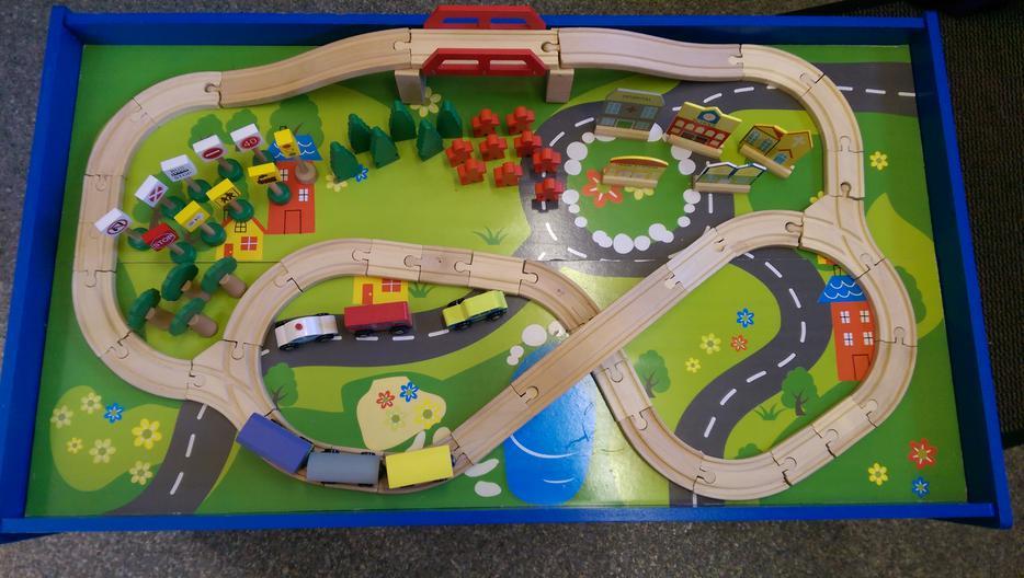 Chad Valley Wooden Table Train Set Stourbridge Wolverhampton
