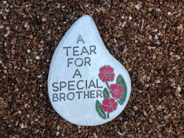 Memorial hearts and tears, Brother