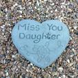 Memorial hearts and tears, daughter