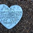 Memorial hearts and tears, mom
