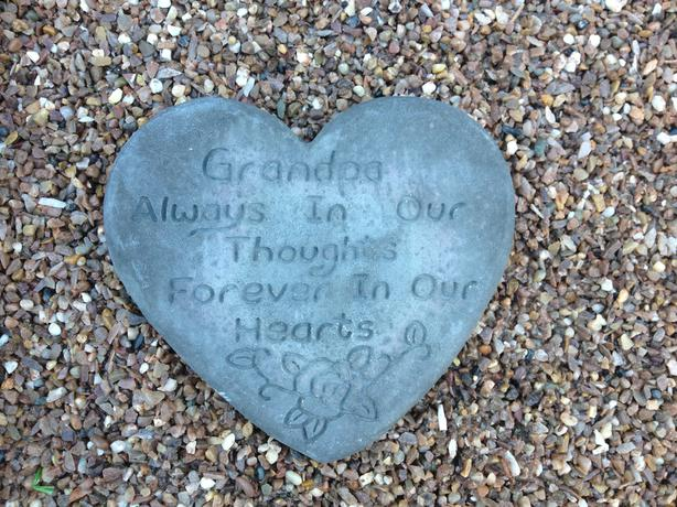 Memorial hearts nan and grandad
