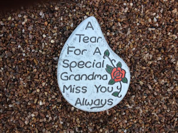 Memorial tears, nan and grandad