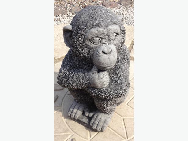 Chimp statue