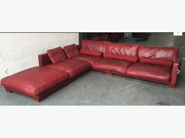  Log In needed £399 · £3000 Huge DFS California Red Leather Corner Sofa WE  DELIVER UK WIDE